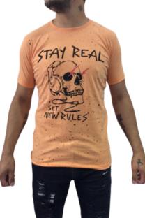 Remera Estampada Real Stay Tokyo Naranja -