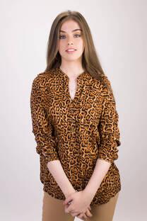Camisa Callao Animal Print de Twill -
