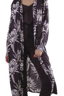 Vestido de Fibrana Estampada  -