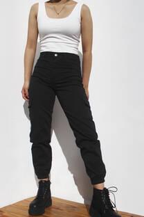 Pantalon Cargo Negro -