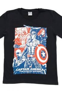 "Remera Varon Juvenil  ""Captain America"""