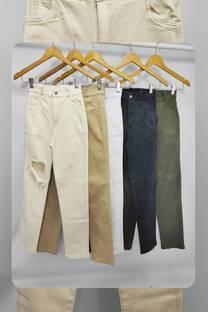 Pantalon gabardina con roturas Atenas -