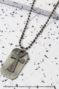Collar de cadena, diseño unisex -
