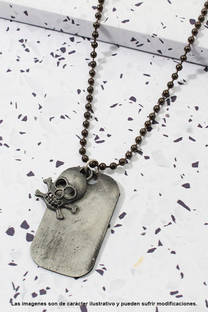 Collar de cadena, diseño unisex. -