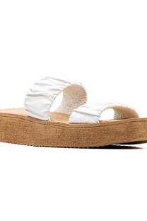 Chatitas Kandil Crepe Moda Verano Blanco -
