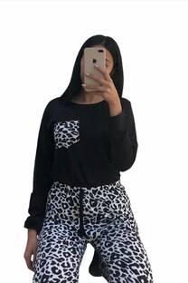 Conjunto Pijamas leopardo talle4 -