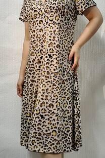 Vestido seda Fria c/ manga  -