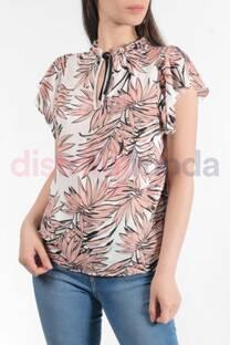 Blusa Fibrana Estampada con Tira Roxie -