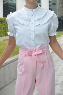 Camisa Rose Jean Blanco
