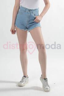 Short Celeste Cintura Desflecada -
