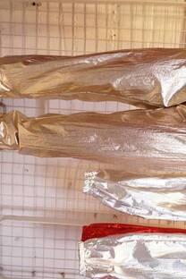 Pantalon plateado -