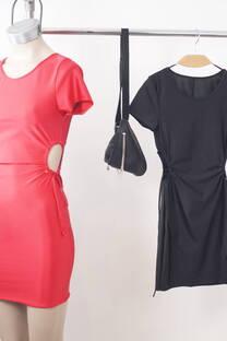 Vestido Red And  Black -