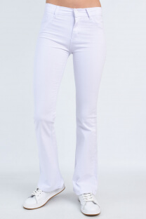 1084 PANTALON OXFORD BLANCO -