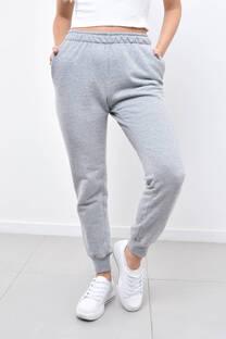 Pantalon algodon frisado -