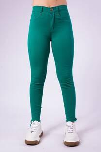 Pantalon chupin elastizado verde  -