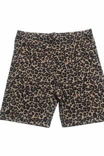 Short leopardo microfibra con lycra -