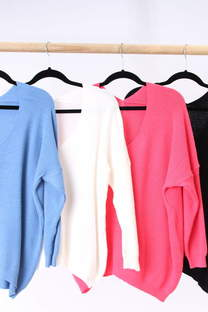 Sweater escote V  -