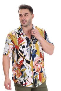 Camisa de Fibrana Estampada 1252135 -
