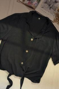 Camisa de lino para atar