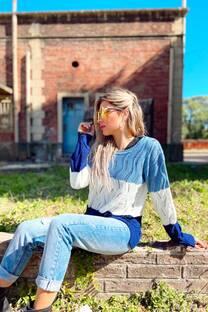 Sweater tricolor CURVA -