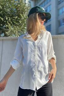 Camisa fibrana lisa  -