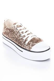 zapatilla Rock gliter cobre -