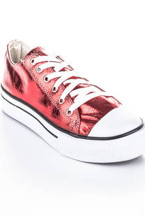 zapatilla rock charol rojo -