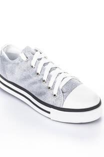 Zapatilla Classic Glitter Plata -
