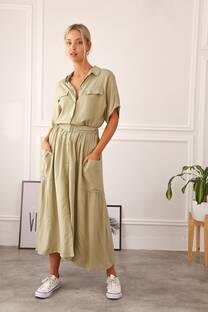 FRIDA - Vestido camisero de poplin
