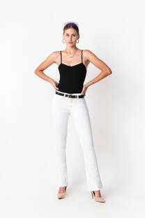 1084 Pantalón Oxford Blanco -