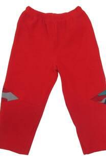 Conj de campera de micro estamp con bordado aplique y pantalón con recorte -