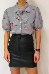 Camisa Lanai bordado manga corta -