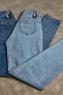 Pantalón de jean nevado -