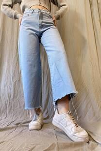 Jeans culotte celeste  -