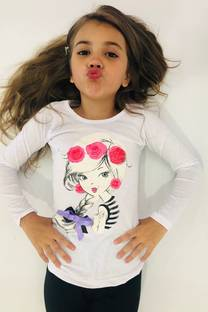 REMERA DE NENA GIRL CON APLIQUE -