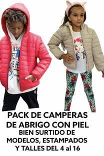 PACK DE 50 CAMPERAS SURTIDAS CON PIEL (DEL 4 AL 16 PAREJO DE TALLES) -