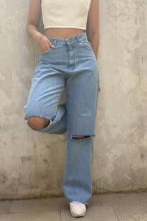 Jean Wide Leg Rotura -