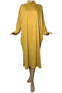 Vestido polera con bolsillos de lanilla Mir -