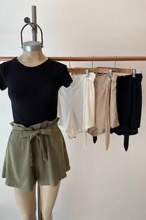 Short Lino elastizado -