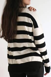 Sweater Oversize Rayado Bicolor -