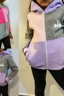 Campera Niña cuadruple color friza -