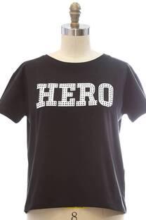 Remera Hero con strass -