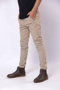 pantalon chupin elastizado de gabardina -