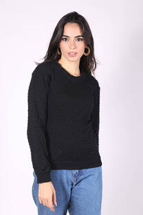 Sweater Cuello Redondo Punto Escama -