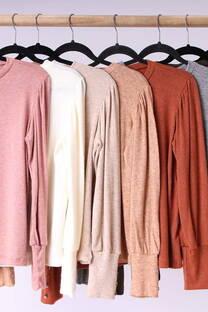 Sweater con botones en puños  -