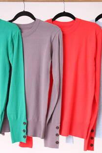 Sweater botones en puños -
