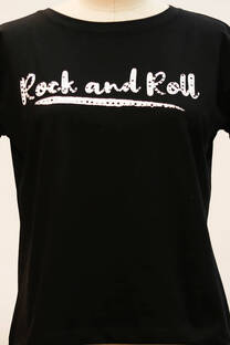 Remera Rock and roll con strass -