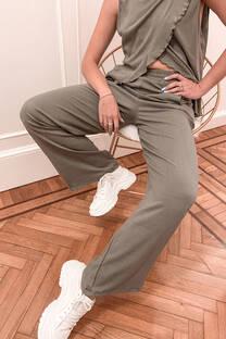 Conjunto musculosa reversible & palazzo de lino lycra -