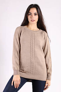 Sweater Largo Trenza Medio -