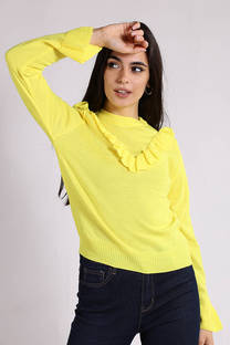 Sweater Volado en Cuello V -